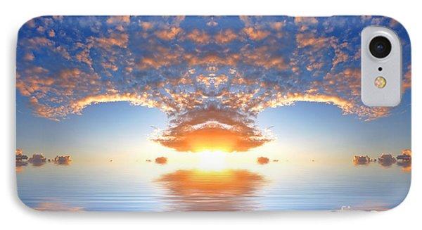 Ocean At Sunset Phone Case by Michal Bednarek