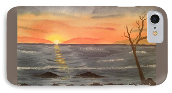 Ocean At Sunset Phone Case by Tim Blankenship