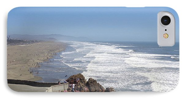 IPhone Case featuring the pyrography Ocean Beach 3 by Hiroko Sakai