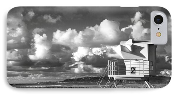 Ocean Beach Lifeguard Tower IPhone Case by Nathan Rupert