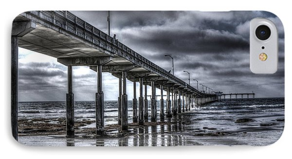 Ocean Beach Pier IPhone Case by Photographic Art by Russel Ray Photos