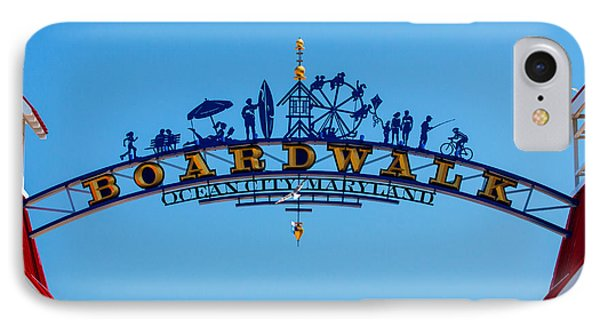 Ocean City Boardwalk Arch IPhone Case by Bill Swartwout