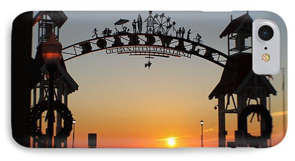 Ocean City Boardwalk Arch New Year Sunrise IPhone Case