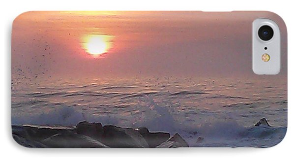 IPhone Case featuring the photograph Ocean City Inlet Jetty At Sunrise by Robert Banach