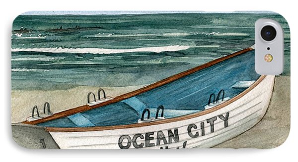 Ocean City Lifeguard Boat 2  IPhone Case by Nancy Patterson