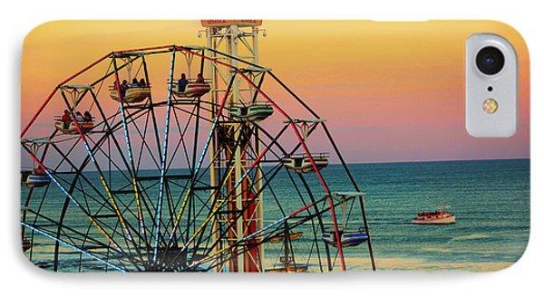 Ocean City Nj Wonder Wheel And Double Shot IPhone Case