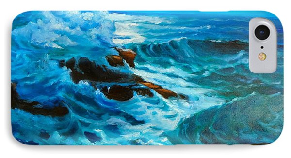 IPhone Case featuring the painting Ocean Deep by Jenny Lee