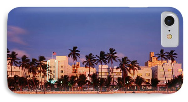 Ocean Drive South Beach Miami Beach Fl IPhone Case by Panoramic Images