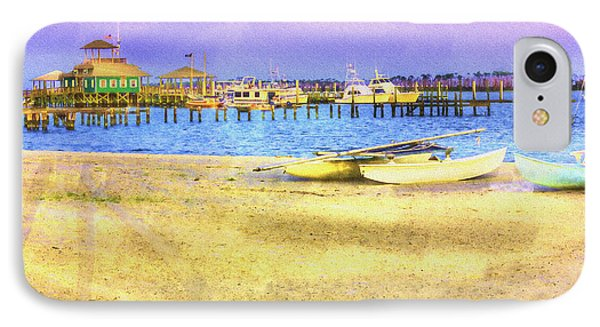 Coastal - Beach - Boats - Ocean Front Property IPhone Case by Barry Jones