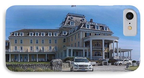 Ocean House Pano - Rhode Island Phone Case by Anna Lisa Yoder