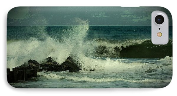 Ocean Impact - Jersey Shore IPhone Case by Angie Tirado
