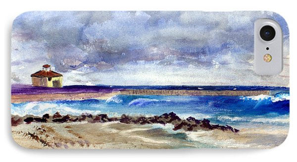 Ocean  Inlet Beach In Boynton Beach IPhone Case by Donna Walsh