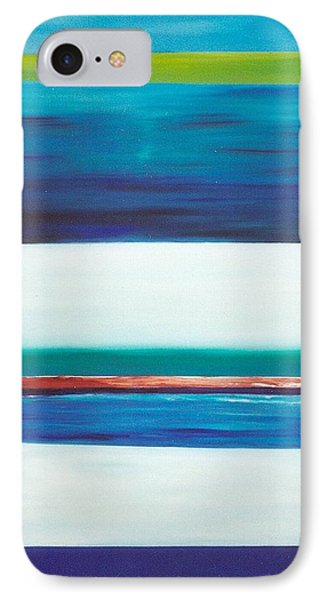 IPhone Case featuring the painting Ocean Journey by Phoenix De Vries