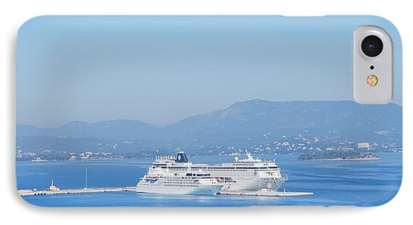 Ocean Liners In Corfu IPhone Case by George Katechis