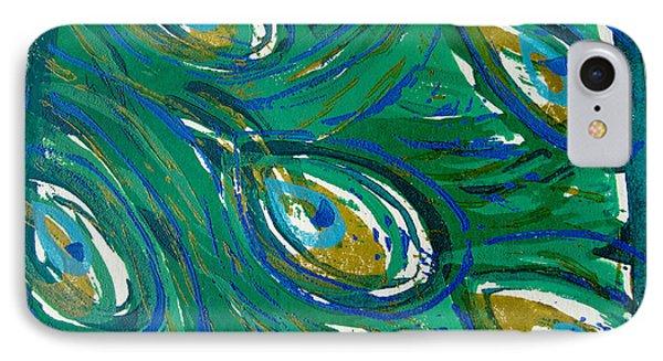 Ocean Peacock IPhone Case by Jennifer Schwab