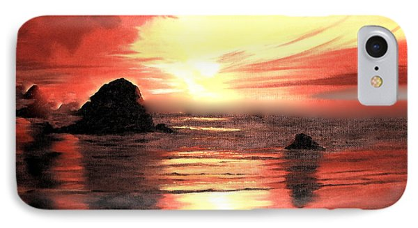 Ocean Shore On Canvas IPhone Case