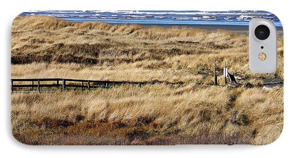 Ocean Shores Boardwalk IPhone Case by Jeanette C Landstrom