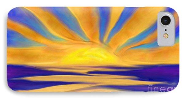 Ocean Sunrise IPhone Case by Anita Lewis