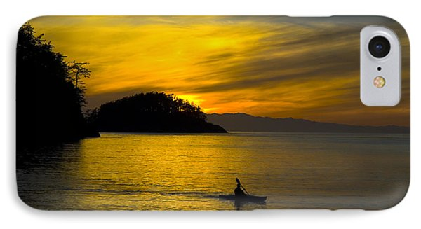 IPhone 7 Case featuring the photograph Ocean Sunset At Rosario Strait by Yulia Kazansky