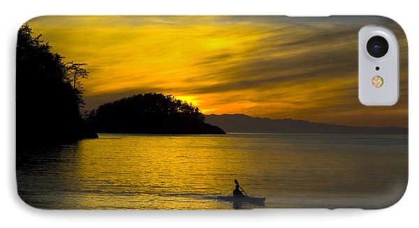 IPhone Case featuring the photograph Ocean Sunset At Rosario Strait by Yulia Kazansky