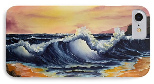 Ocean Sunset IPhone Case by C Steele