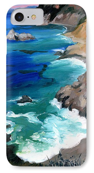 Ocean View At Big Sur IPhone Case by Alice Leggett