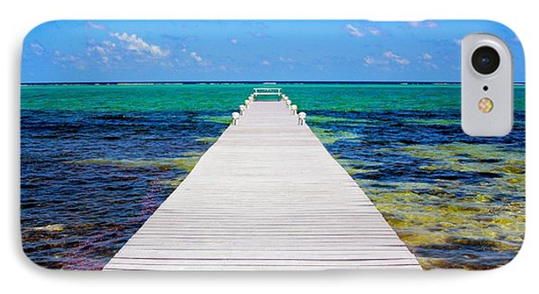 Ocean Walkway IPhone Case by Carey Chen
