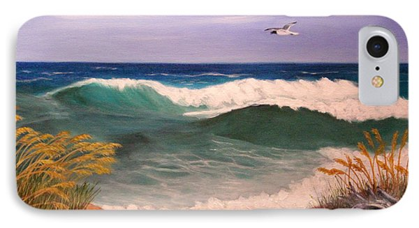 IPhone Case featuring the painting Ocean Wave by Janet Greer Sammons