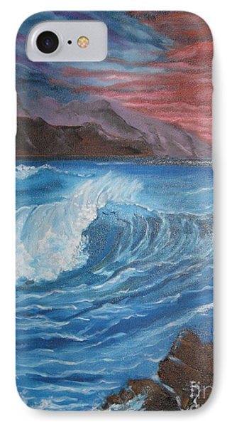 IPhone Case featuring the painting Ocean Wave by Jenny Lee