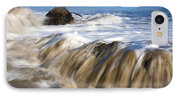 Ocean Waves Breaking Over The Rocks Photography IPhone Case