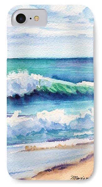 Ocean Waves Of Kauai I IPhone Case by Marionette Taboniar