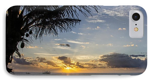 Oceanfront Park Sunrise 1 IPhone Case by Don Durfee