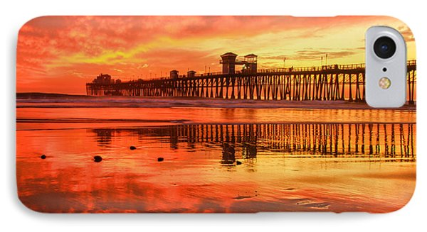 Oceanside Fire IPhone Case by Robert  Aycock