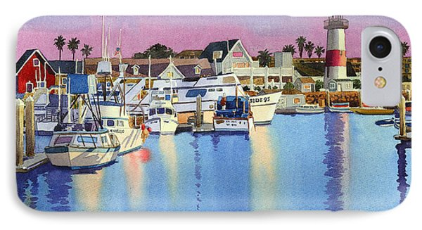 Pacific Ocean iPhone 7 Case - Oceanside Harbor At Dusk by Mary Helmreich