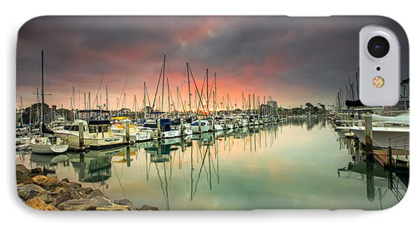 Oceanside Harbor Sunrise IPhone Case by Robert  Aycock
