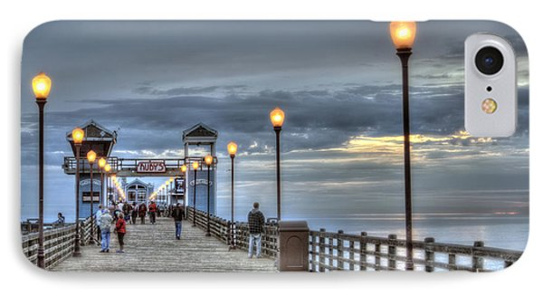 Oceanside Pier At Sunset Phone Case by Ann Patterson