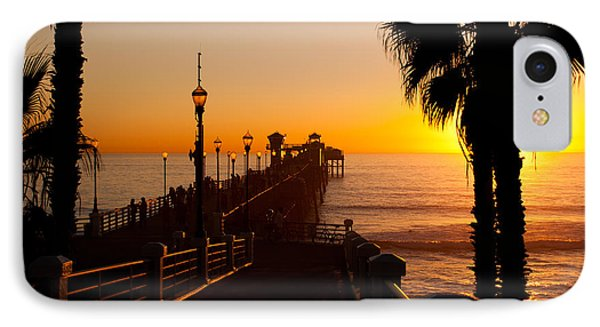 Oceanside Pier At Sunset IPhone Case by Alex Snay