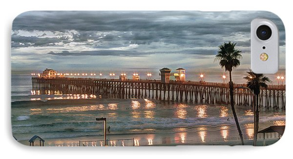 Oceanside Pier At Dusk Phone Case by Ann Patterson