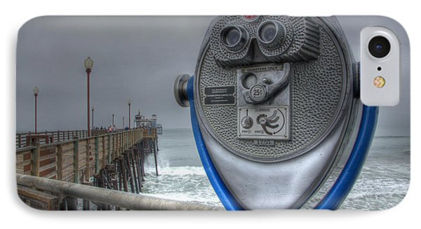 Oceanside Pier California Binocular Vision IPhone Case by Bob Christopher