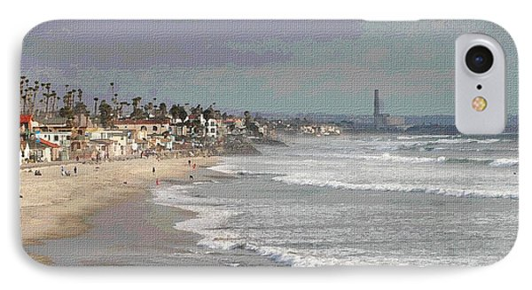 Oceanside South Of Pier IPhone Case by Tom Janca