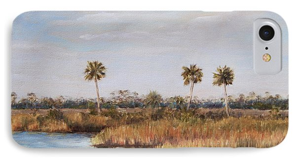 IPhone Case featuring the painting Ochlockonee River Palms by Pam Talley