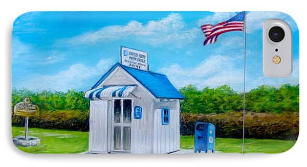 IPhone Case featuring the painting Ochopee Post Office Country's Smallest Post Office by Melinda Saminski
