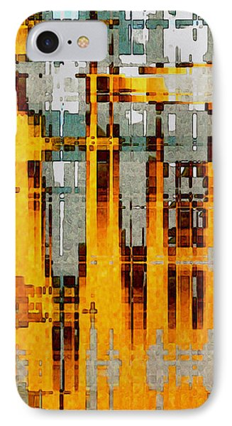 Ochre Urbanity IPhone Case by David Hansen