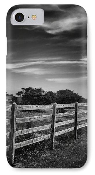 Ocracoke Pony Fence IPhone Case