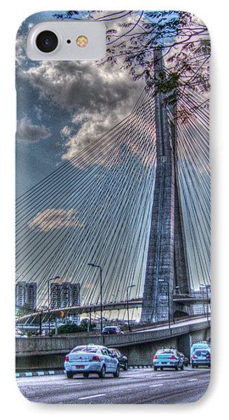 IPhone Case featuring the photograph Octavio Frias De Oliveira Bridge by Ross Henton