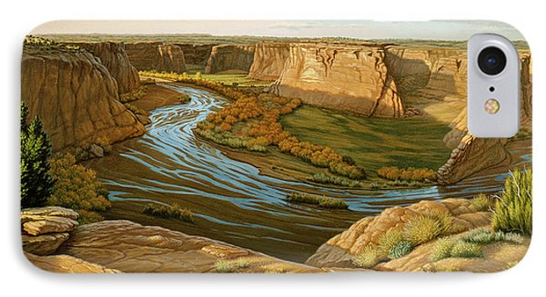 October Afternoon- Canyon Dechelly IPhone Case by Paul Krapf