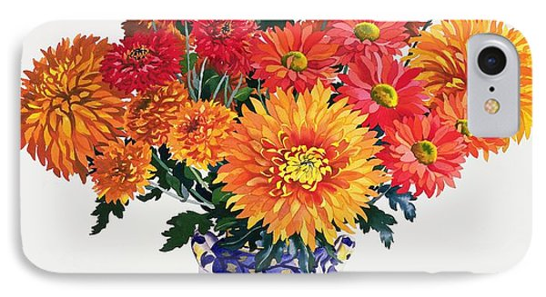 October Chrysanthemums Phone Case by Christopher Ryland
