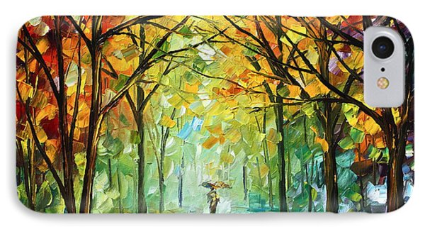 October In The Forest Phone Case by Leonid Afremov