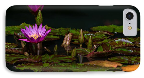 October Lilies 2 IPhone Case