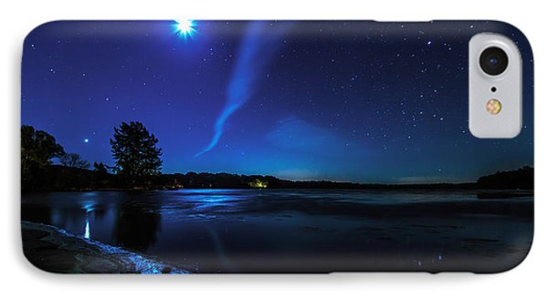 October Moon IPhone Case by Everet Regal